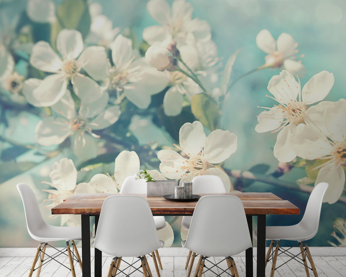 Sunlight Flowers  Wallpaper Mural