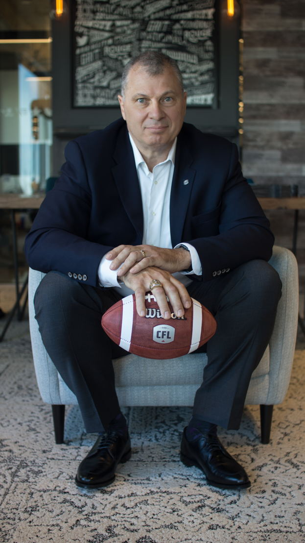 CFL Commissioner Randy Ambrosie. Photo Credit : Danny Gibson/CFL