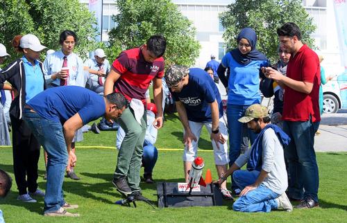 Emirates Aviation University Holds Water Rocket Challenge