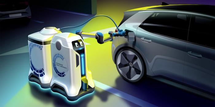 Preview: Wereldpremière: Revolutie in de parkeergarage – Volkswagen laat de laadrobots los