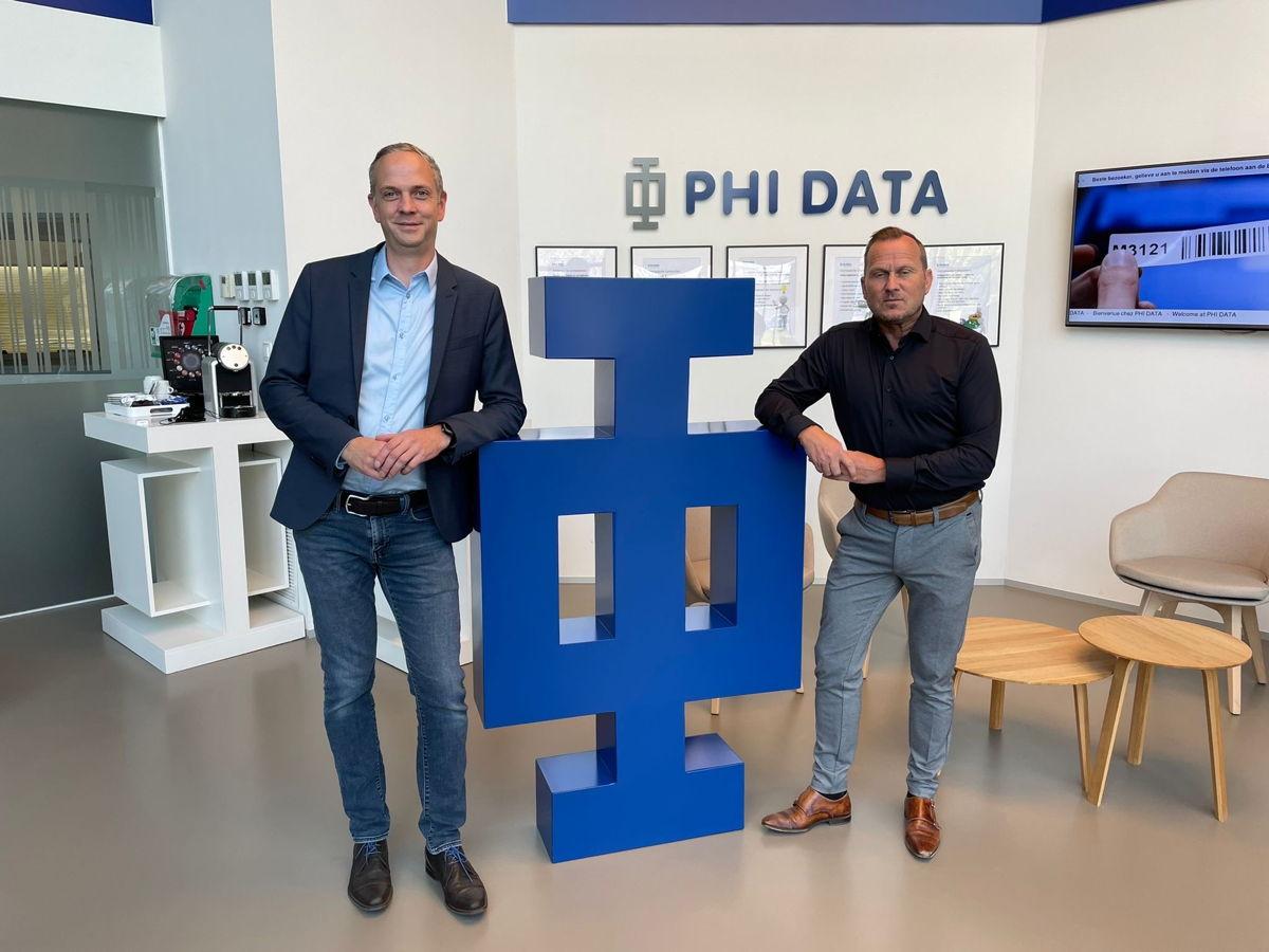 Filip Van Lancker, Head of Partnerships bij Sensolus en Kurt Roothans, sales manager bij PHI DATA