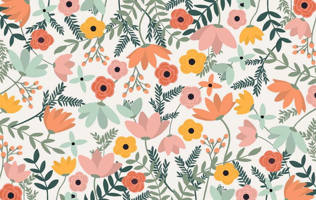 Wildflower Floral Wallpaper Mural