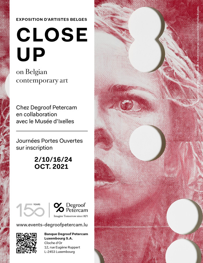 """Preview: """"Close up on Belgian contemporary art"""": art exhibition at Degroof Petercam Luxembourg"""