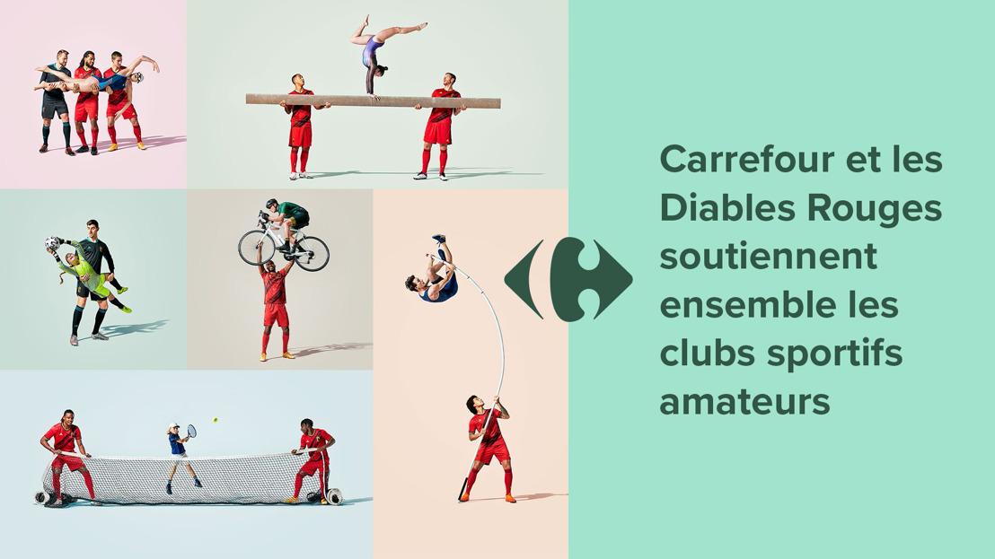 Carrefour et les Diables Rouges soutiennent ensemble les clubs sportifs amateurs