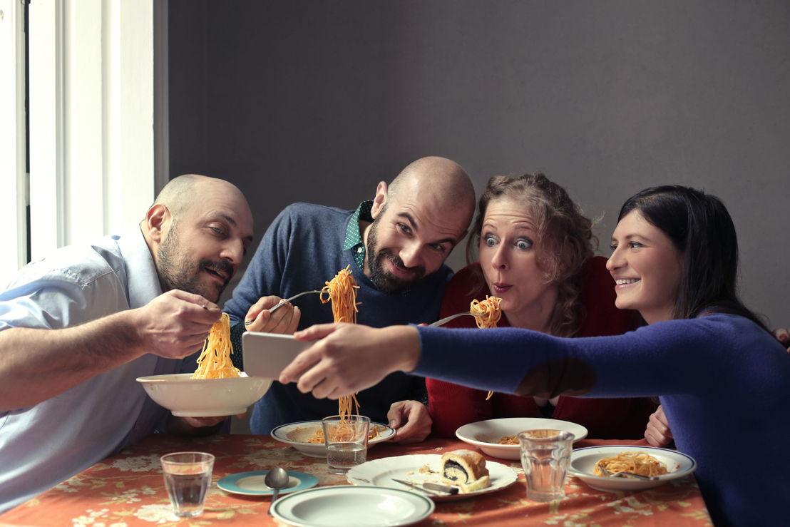 Selfie con spaghetti