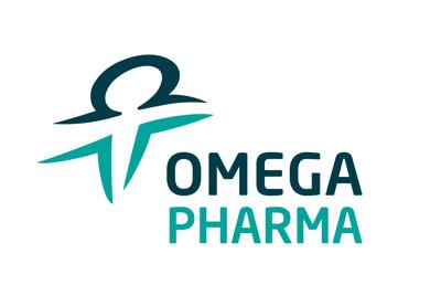 Omega Pharma perskamer Logo