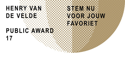 Henry van de Velde Awards: vanaf vandaag mag het grote publiek stemmen voor zijn favoriet!