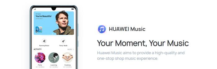 Huawei Music arrive en Belgique
