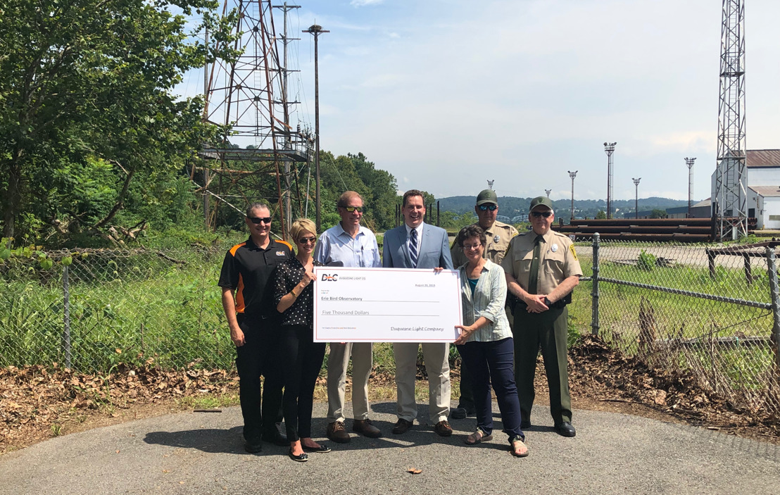 Duquesne Light Celebrates Success of Osprey Nesting Platform; Donates $5,000 to the Erie Bird Observatory