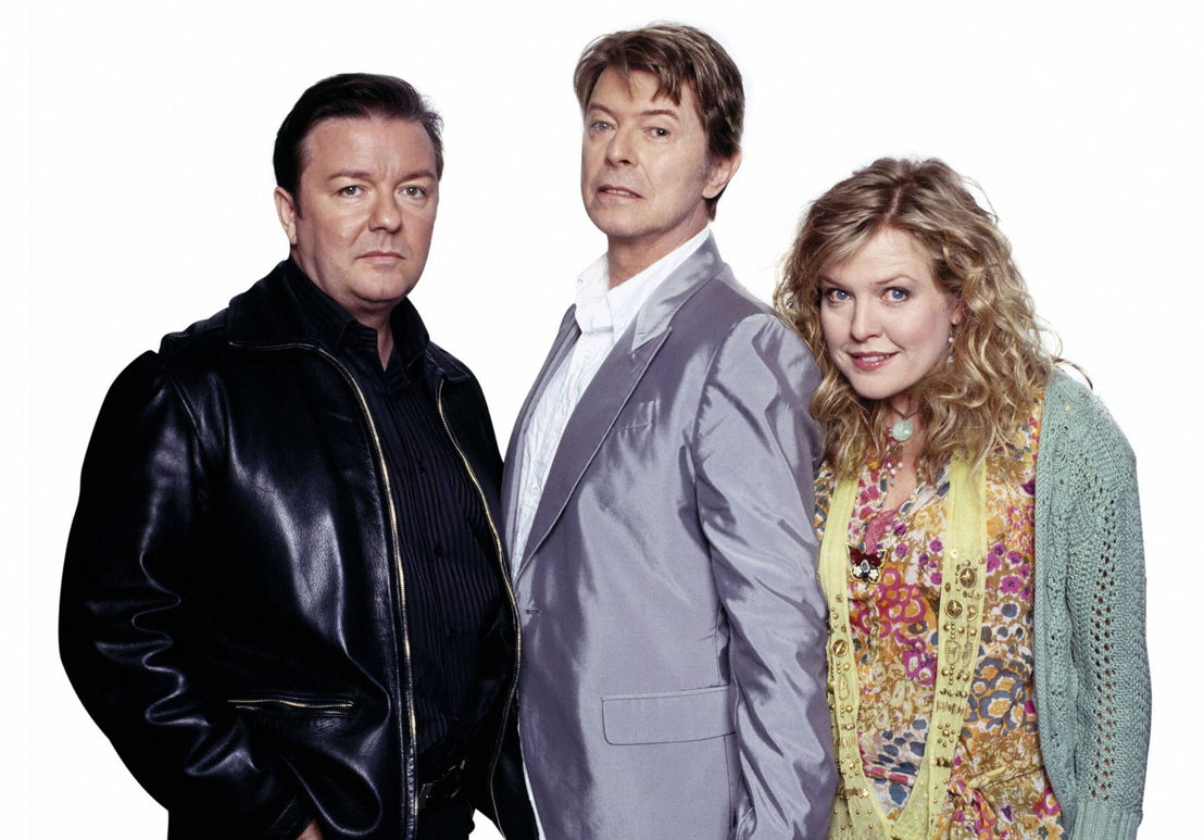 Extras - Andy (Ricky Gervais), David Bowie & Maggie (Ashley Jensen)