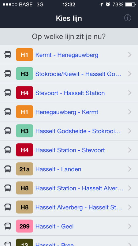 App halteaankondiging - screenshot 1