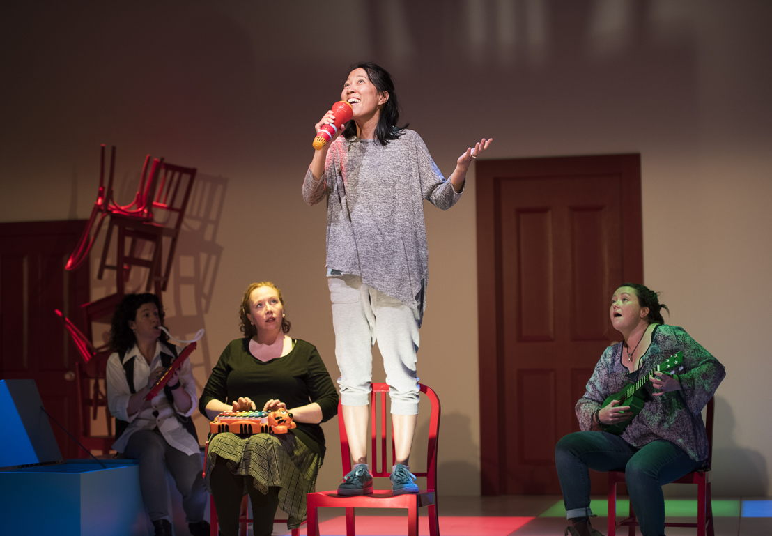 Sarah Donald, Trish Cooper, Yumi Ogawa, and Jennifer Paterson in Mom's the Word / Photos by Emily Cooper