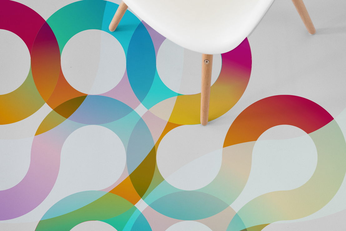 70's Retro Swirl | Retro Swirl Graphic Flooring
