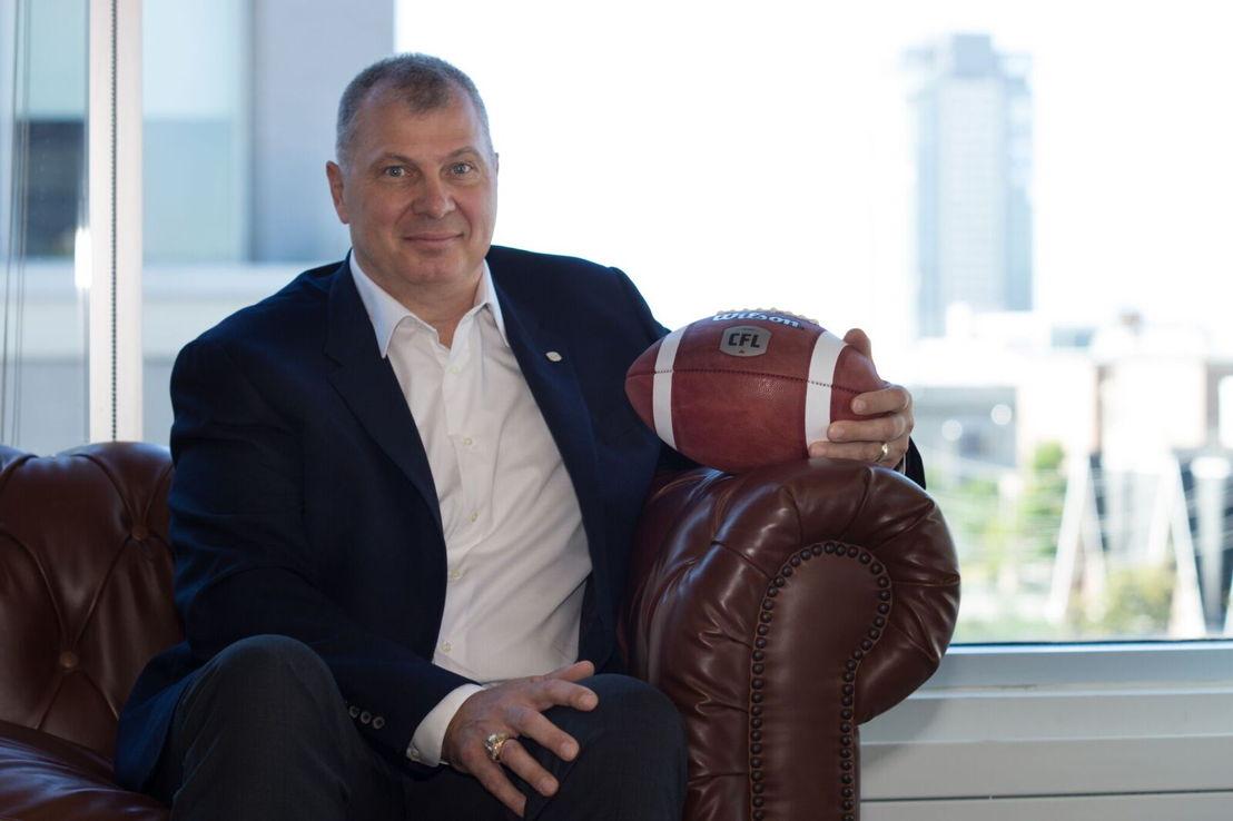 Le Commissaire de la LCF Randy Ambrosie. Crédit Photo : Danny Gibson/LCF.