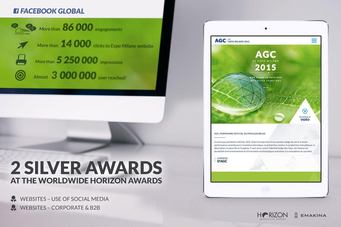 AGC Glass, winnaar van twee zilveren Horizon Awards