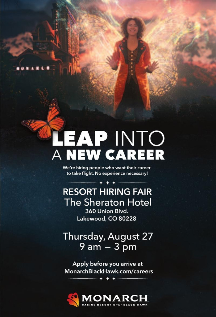Comment, like and share for a great new job during Monarch Casino Resort Spa's all-day virtual job fair!