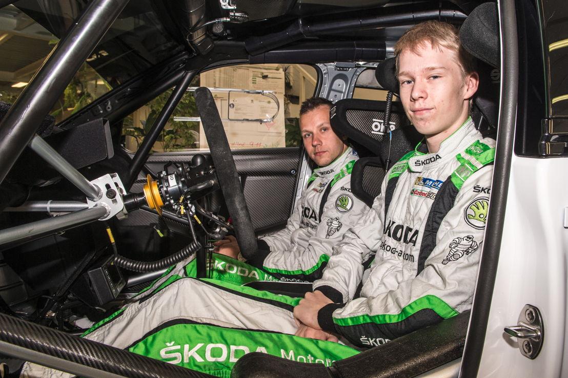 Finnish ŠKODA juniors Kalle Rovanperä/Jonne Halttunen<br/>(ŠKODA FABIA R5) look forward to their home round of<br/>the WRC 2 championship in Finland