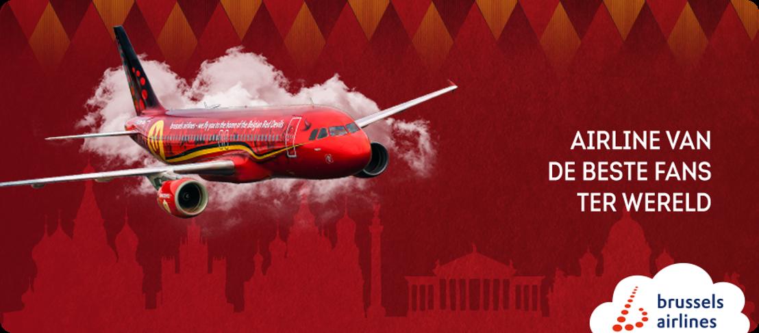 Brussels Airlines brengt Rode Duivels en hun fans naar Rusland