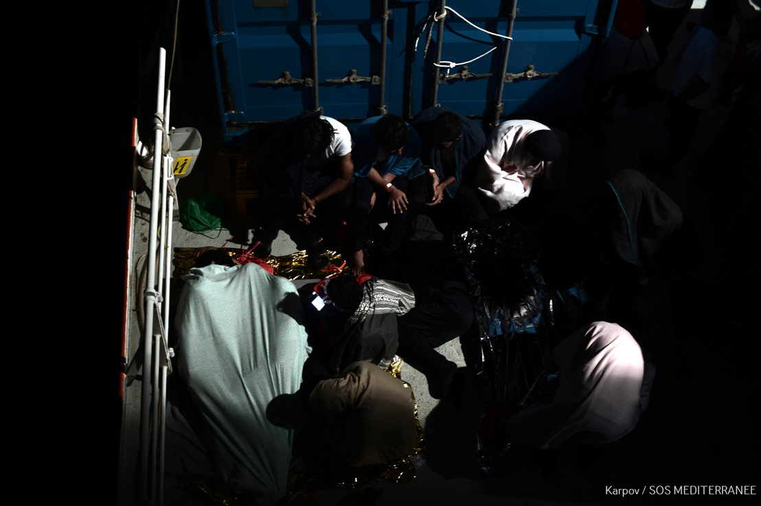 Doctors Without Borders (MSF) is urging European Member States to facilitate the immediate disembarkation of 629 people rescued over the weekend in Mediterranean and now onboard Aquarius, a dedicated search and rescue vessel run by SOS MEDITERRANEE in partnership with MSF. Aquarius remains in international waters off Malta and Italy, the countries with the closest ports of safety but which continue to refuse permission to dock. Photographer: Kenny Karpov