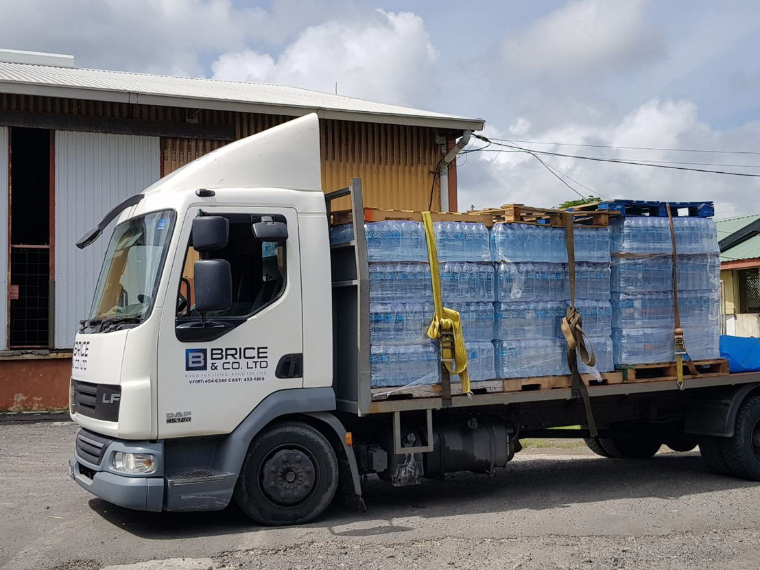Much needed water leaving from Dominica thanks to Brice and Co.