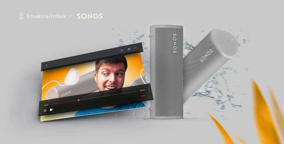 Emakina/Influx donne le ton pour Sonos avec la complicité du créateur Romain Lanéry