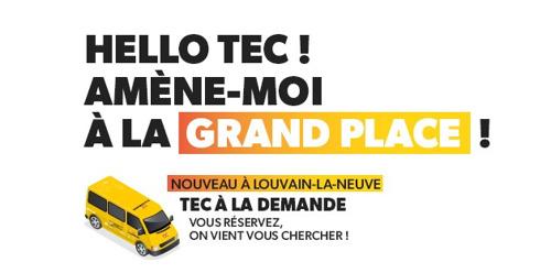 Lancement du service TEC à la demande à Louvain-la-Neuve !