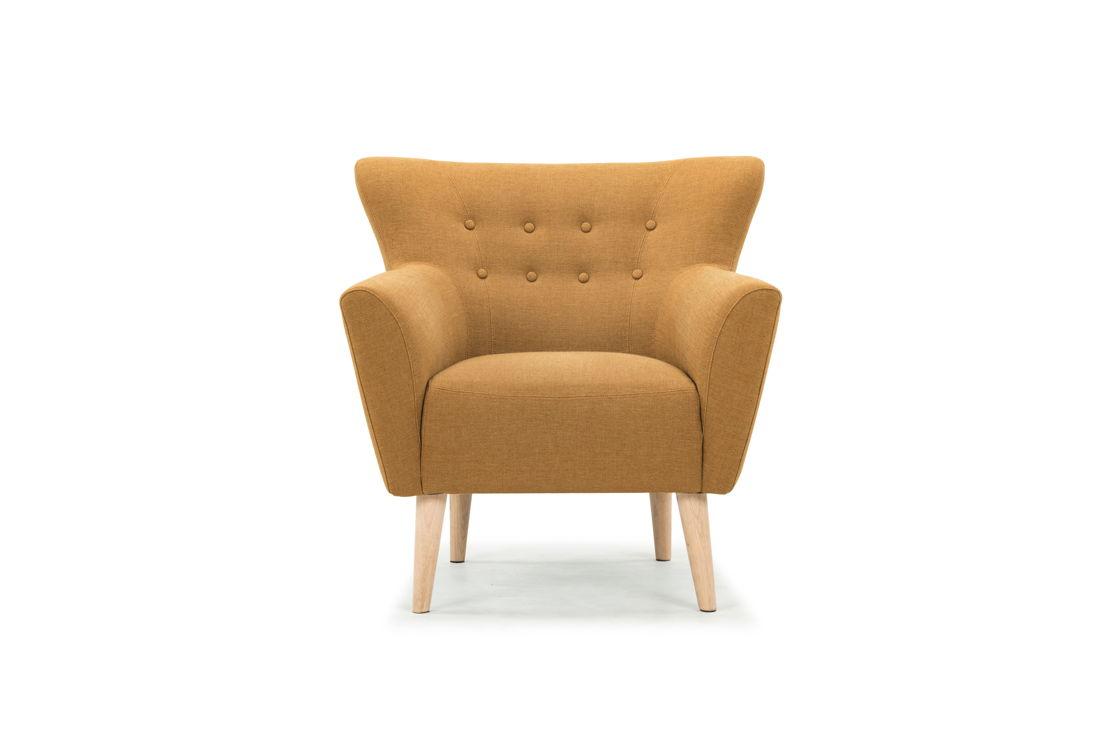 Ellen, chair, Legend Orchre, Oak Soap Legs