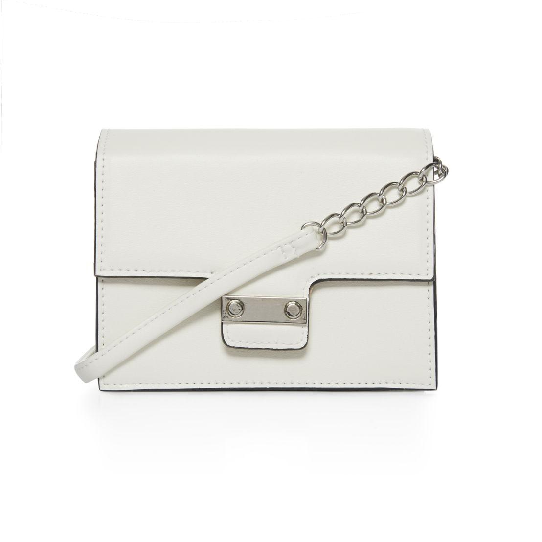 Primark - White Mini Buckle and Chain Xbody Bag - 5€