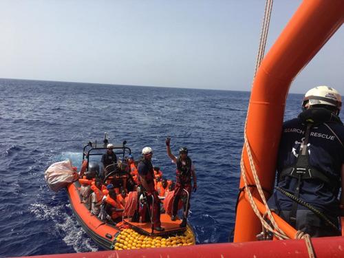 El Ocean Viking rescata a 85 personas en el Mediterráneo Central
