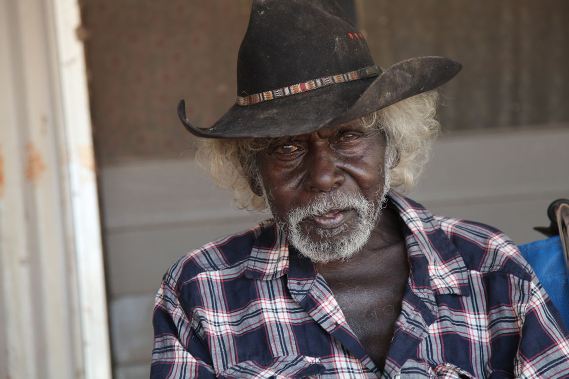 Jacob Nayinggul, Senior Elder and main interviewee <br/>Photographer: Martin Thomas