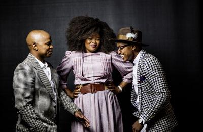 The Soil's Ntsika Ngxanga, Buhle Mda and Luphindo Ngxanga credit Infadizle