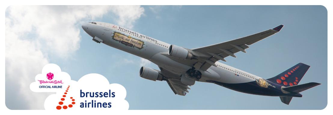 Voor vierde jaar op rij vliegt Brussels Airlines de wereld naar Tomorrowland