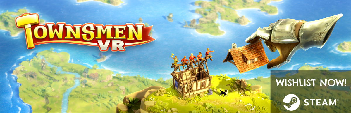 Townsmen VR uses the exciting possibilities of virtual reality to further enhance the classic city building game with entirely new gameplay experiences and interactive mechanics.