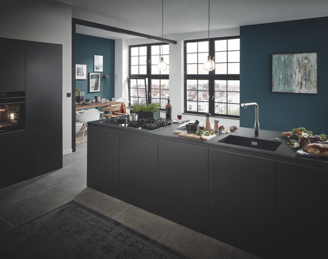 GROHE SmartControl Kitchen – puristisch design voor controle in de keuken, met één druk op de knop