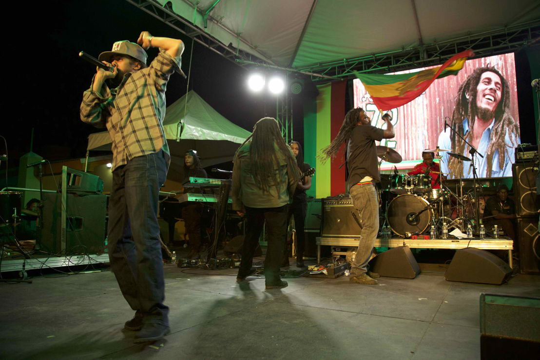 Bob Marley&#039;s  sons, led by Damian &#039;Jr Gong&#039; Marley<br/>Photo credit: Garreth M. Daley - GD Films