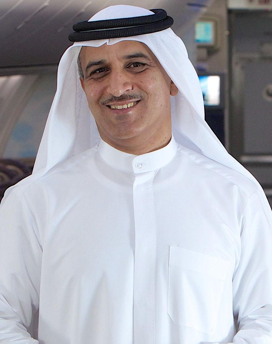Ghaith Al Ghaith on board a flydubai aircraft
