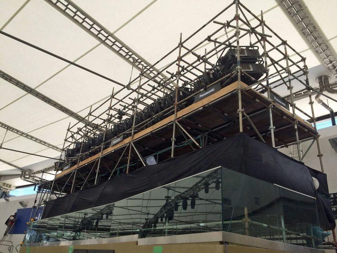 Panasonic @ JJOO Rio 2016 Montaje Proyectores Estadio Maracana