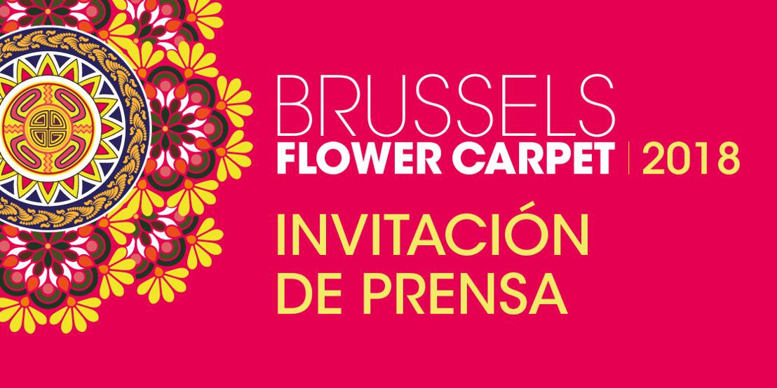 Invitación a la prensa - Brussels Flower Carpet 2018