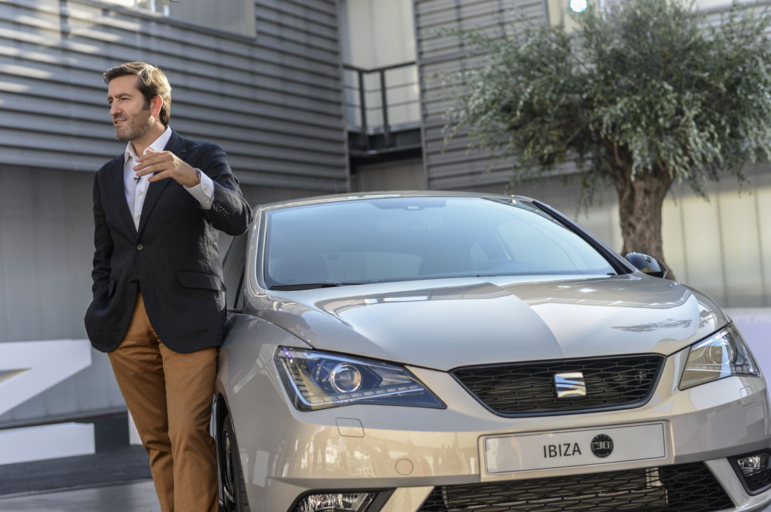 Alejandro Mesonero-Romanos, SEAT's current Head of Design, has created the SEAT Ibiza special edition on the occasion of its 30th anniversary