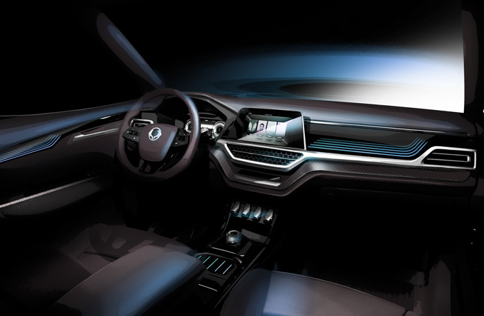 SSANGYONG PRESENTEERT XAVL MID-SIZE SUV CONCEPT IN GENEVE