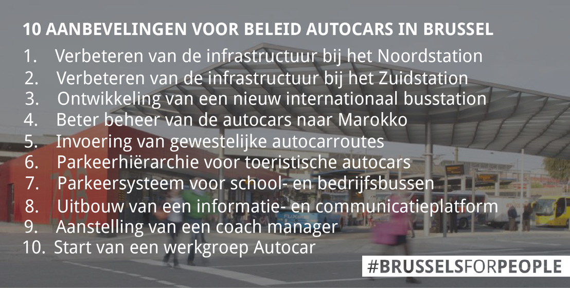 Aanbevelingen voor beleid autocars in Brussel goedgekeurd