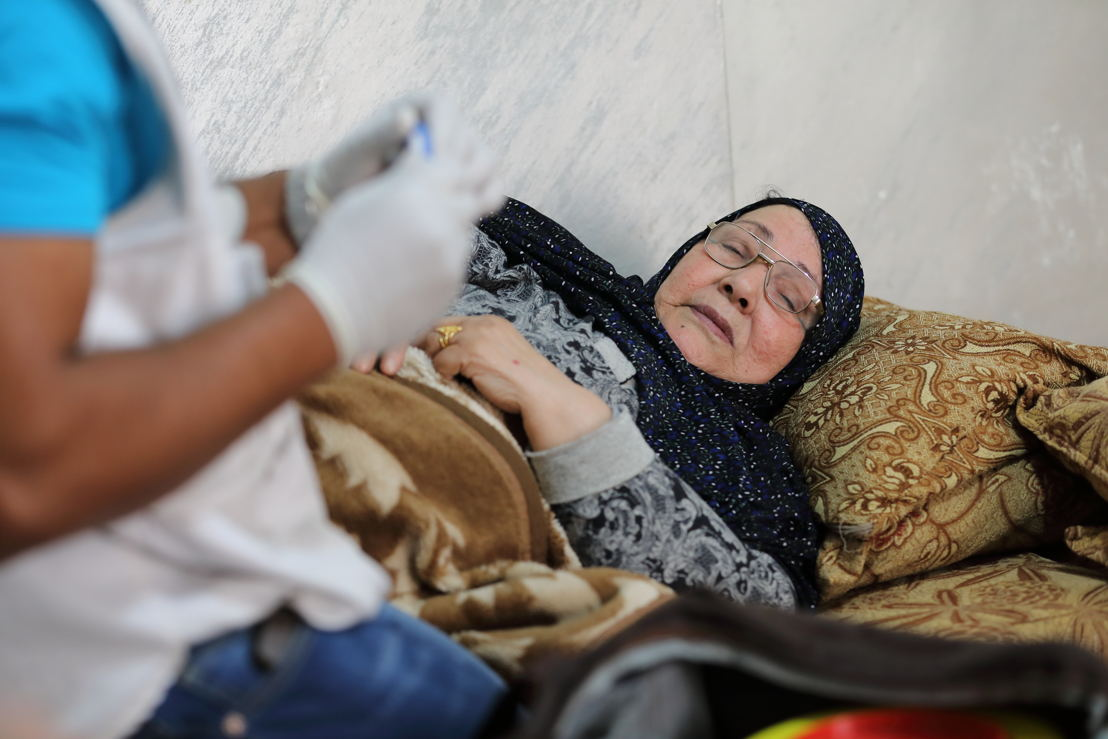 Khairiya, 77, is from Syria and currently living in Jordan. She has had diabetes for 15 years. Credit: Maya Abu Ata/MSF, taken 4 November 2017