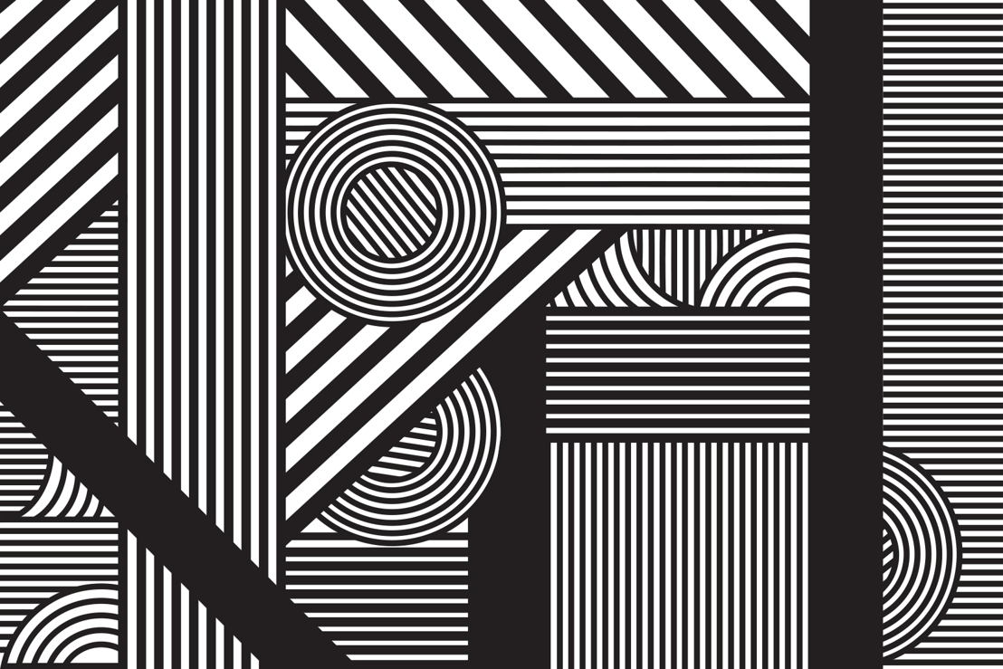 Oriz Geometric Mural - Swatch