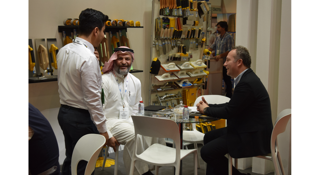 Business meeting at The Big 5 Saudi 2017