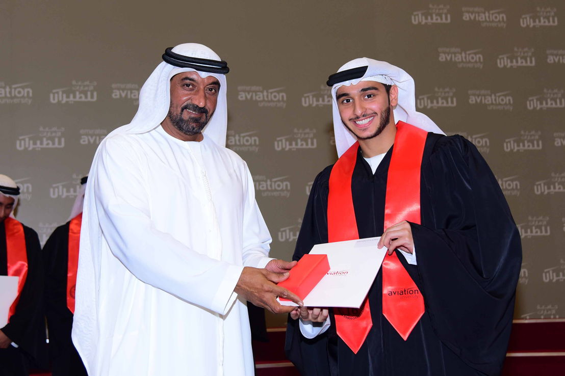 His Highness Sheikh Ahmed bin Saeed Al Maktoum, Chairman and Chief Executive Emirates Airline and Group awarded degrees to 145 graduates