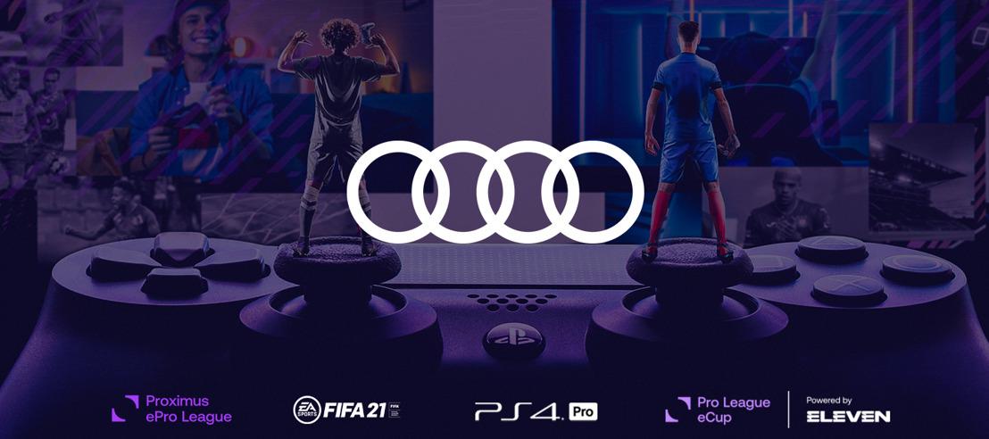 Audi fier partenaire esports de la Pro League et de Eleven Sports
