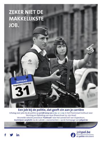 Gezocht: politieagenten voor Vlaams-Brabant