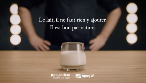 HUNGRY MINDS nous donne la vraie recette du bon lait pour l'APAQ-W