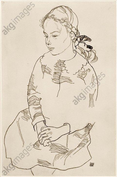 &quot;Portrait Eva Steiner&quot;, 1918.<br/>AKG2349053