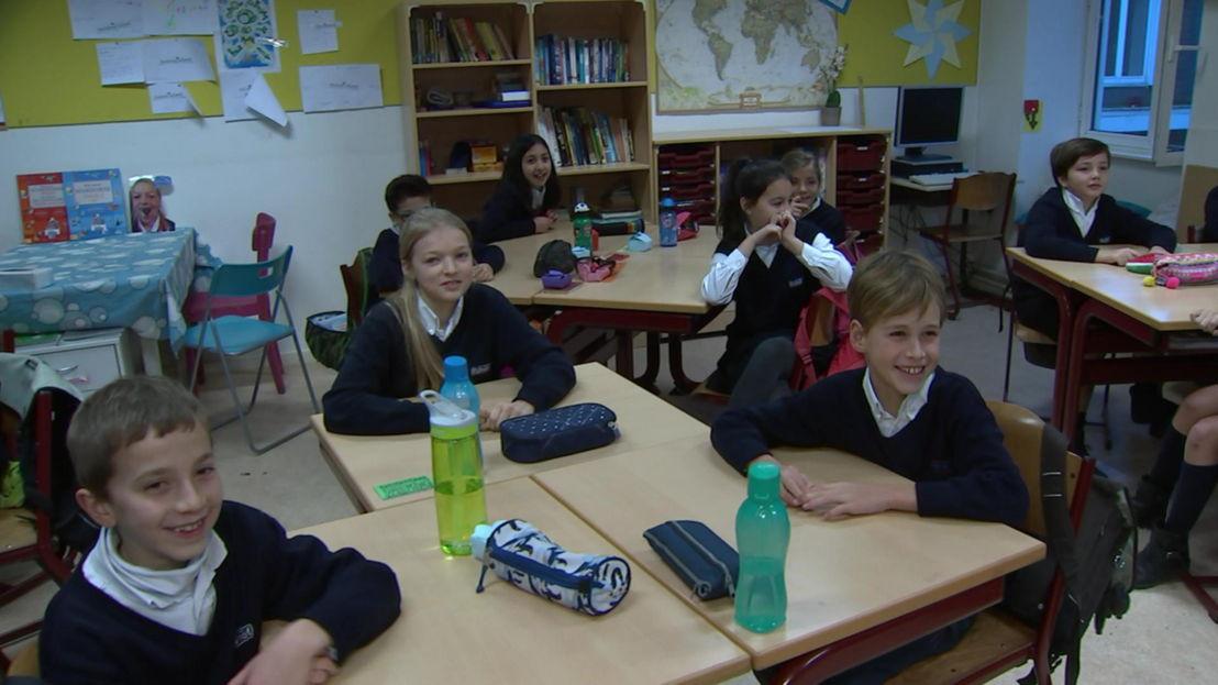 De leerlingen van het vijfde leerjaar van het Onze-Lieve-Vrouw Instituut Pulhof - (c) VRT